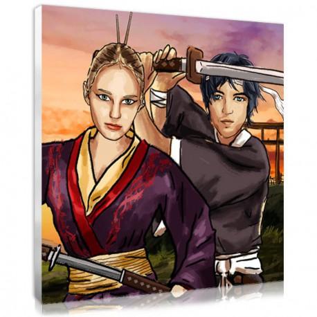 Manga Samouraï Couple - Portrait