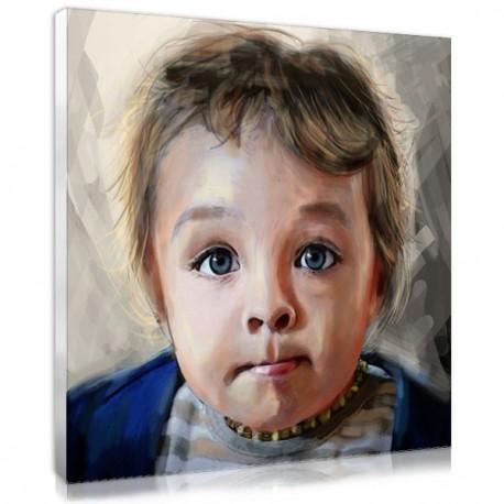 portrait peinture expression bébé