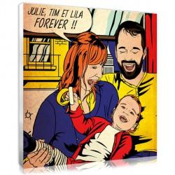 Pop Art Lichtenstein - Family