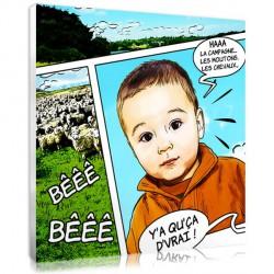 Portrait BD campagne - vacances