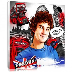 Comic Strip portrait - London