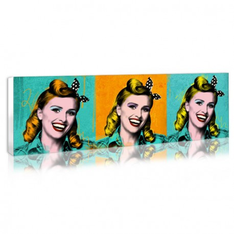 Vintage deco Pop Art canvas - 3 squares