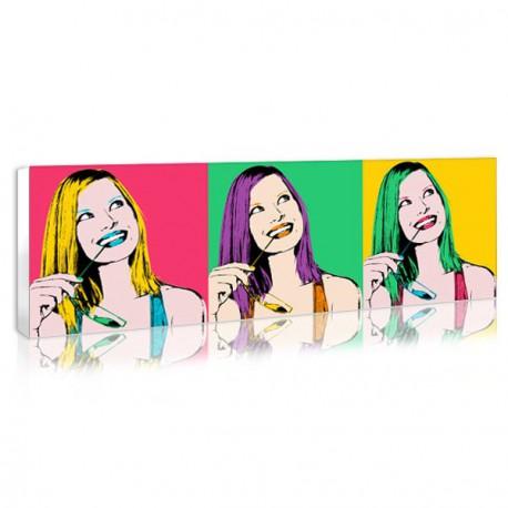 Canvas pop art design decoration