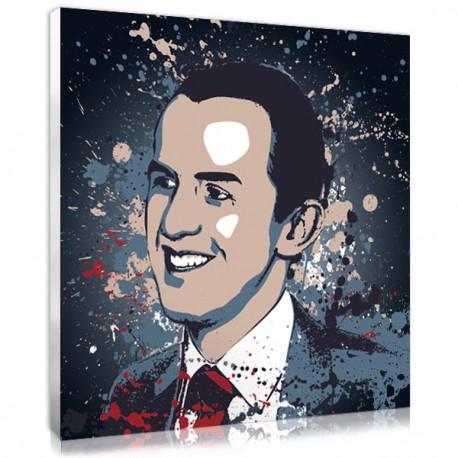 portrait photo sur toile splash homme