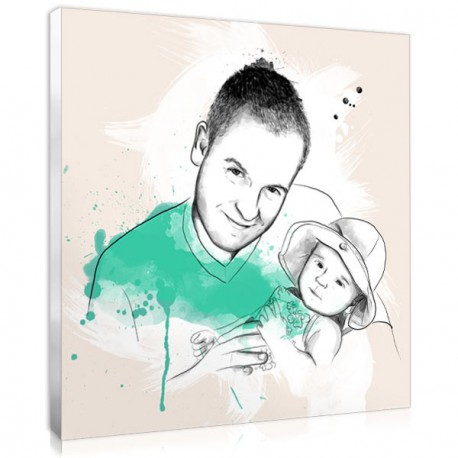personalised portrait sketch family