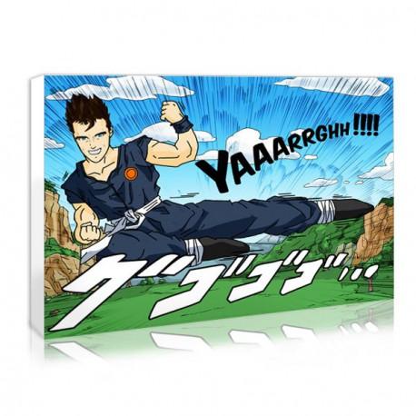 tableau personnalise manga boy silhouette