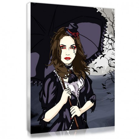 Personalized photo in manga gothic - lolita