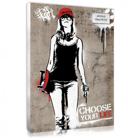 tableau personnalisé street art