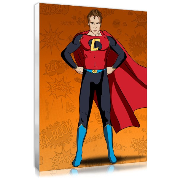 Superhero -orange