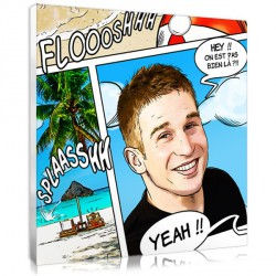 Comic portrait - Sea - Square