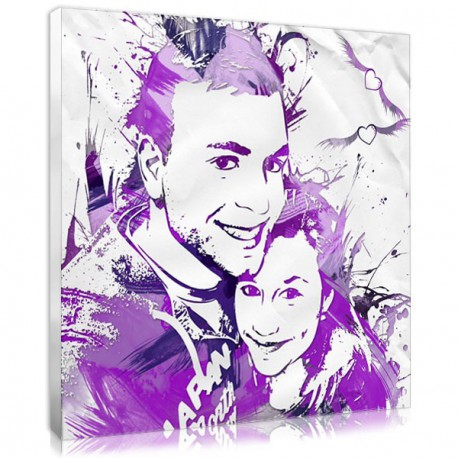 The duo stencil portrait, a personalised gifts for couple