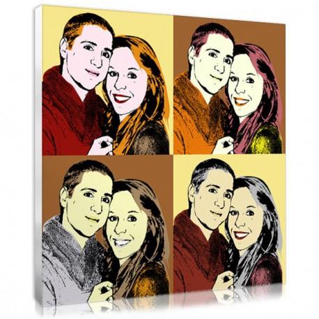 Idée cadeau couple - Tableau personnalise Warhol