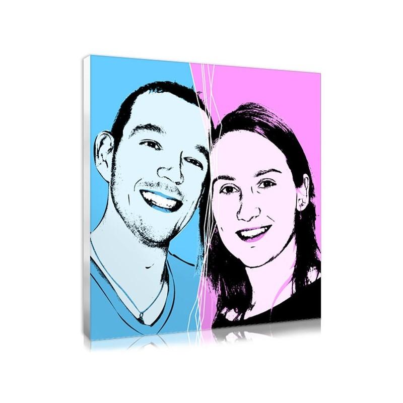 cadeau personnalis de couple portrait style un gars une. Black Bedroom Furniture Sets. Home Design Ideas