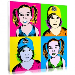 Flashy Pop Art for teenager – 4 squares