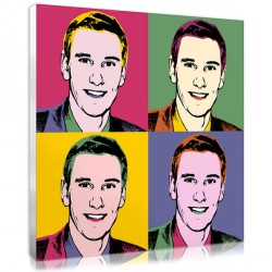 Flashy Pop Art for men – 4 squares