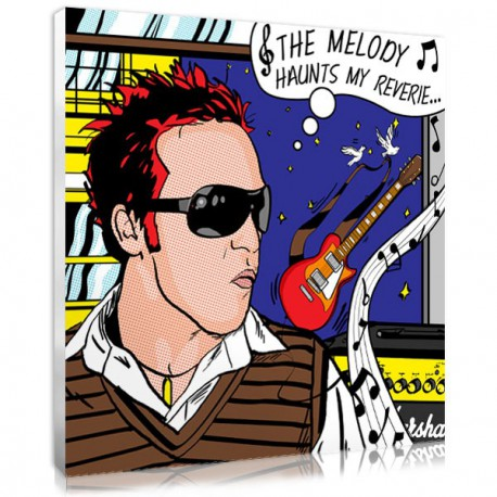 The Lichtenstein music portrait, a funny Father's day gift for your lovely dad
