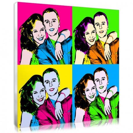 Un cadeau de mariage insolite, un tableau pop art des mariés