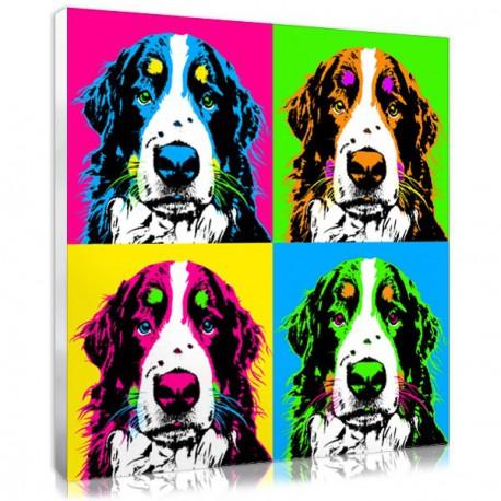 Cadeau noel chien - portrait personnalisé pop art