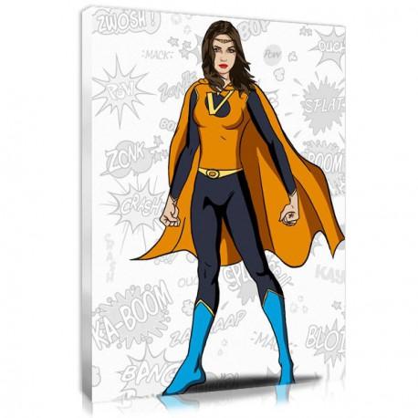 Superhero canvas portrait style Wonderwoman