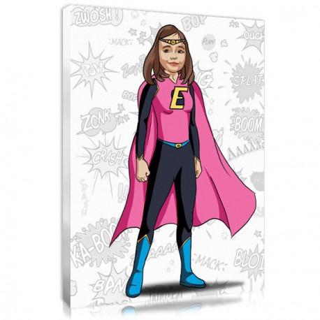 Superhero portrait style Supergirl