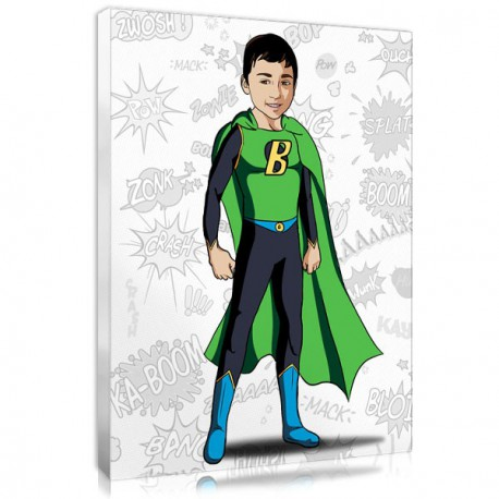 Tableau deco personnalise super-heros - enfant