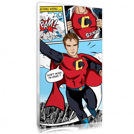 Tableau toile comics BD superman