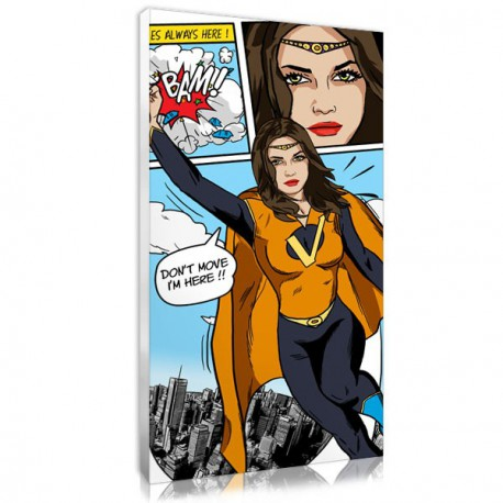 Comic portrait with your own photo, an unusual christmas gifts for her