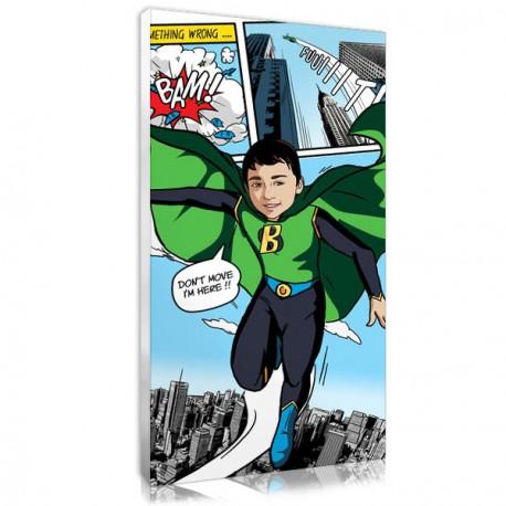 Tableau personnalisé style bd comics boy