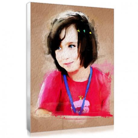 Portrait aquarelle sur mesure avec votre photo