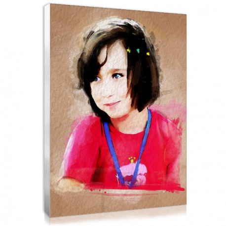 Watercolor painting portrait with your picture