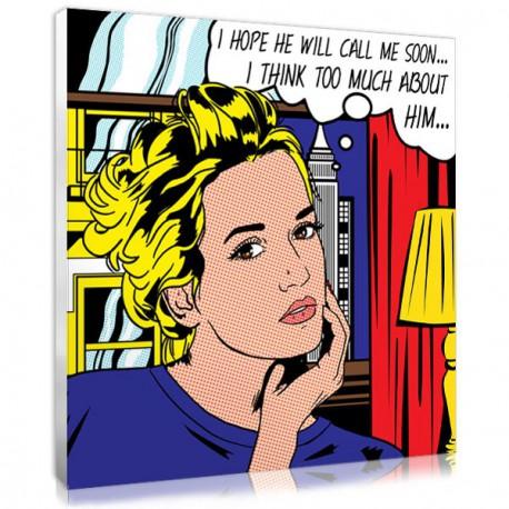 pop art Roy Lichtenstein personnalisé