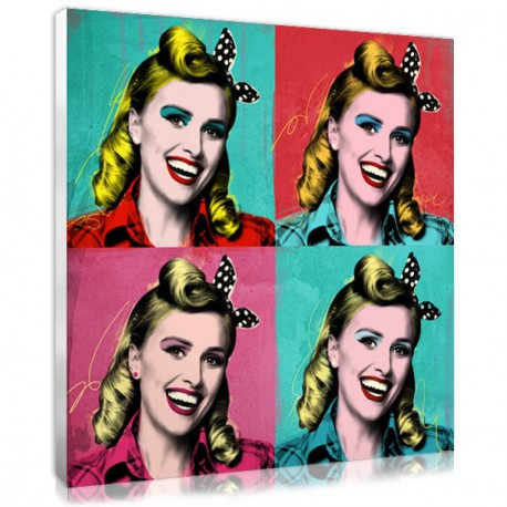 Personalised Marilyn Monroe pop art style print on canvas
