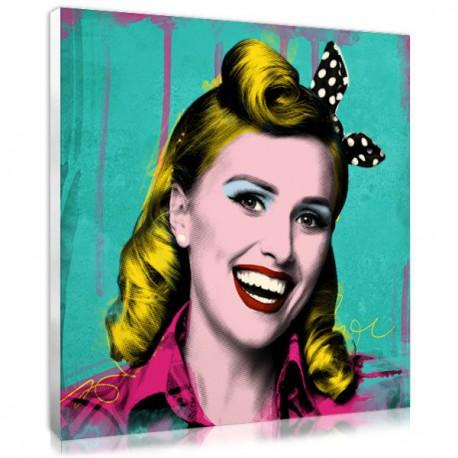 cadeau femme - photo personnalisee pop art retro