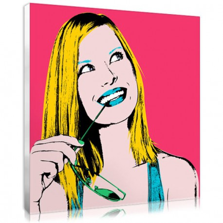 Personalised pop art canvas with pop art style