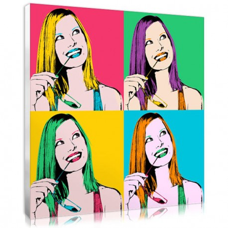 Tableau pop art avec une photo