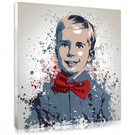 Personalised splash portrait, an original baby portrait idea