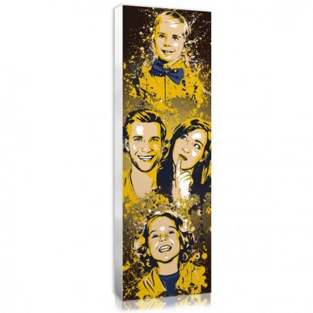 Idée cadeau pour noel : tableau personnalisé Splash famille