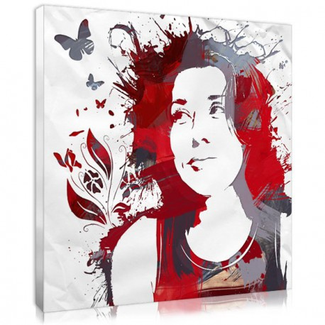 Butterfly stencils in a personalised portrait