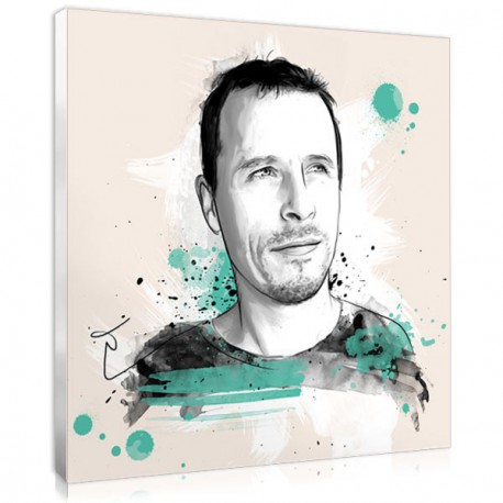 Artistic present for fathers : the sketch portrait made from his photo
