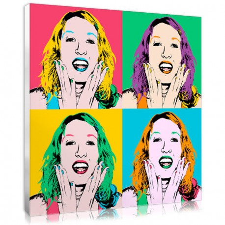 Her pop art print on canvas, a beautiful present for your mom !