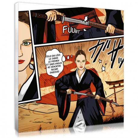 photo personnalisée manga guerrière