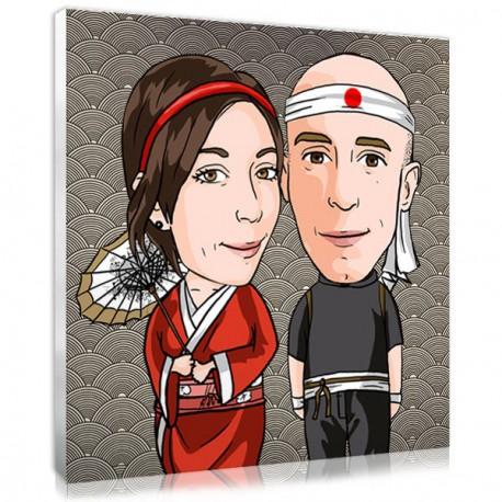 Cadeau Mariage La Photo Des Mariés Personnalisée En Manga Kawaii