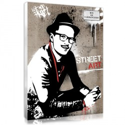 Graffiti Street Silhouette – Grey