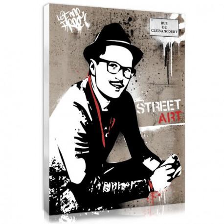 Photo personnalisée pour homme façon street art
