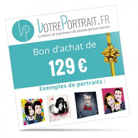 Bon cadeau personnalisé 129 €