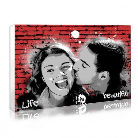 Gift ideas for couple : the graffiti portraits