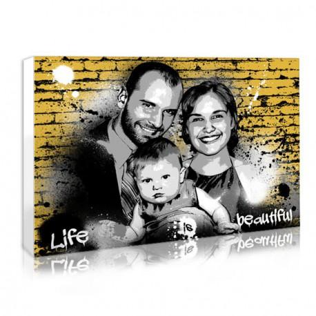 Cadeau de famille : portrait graffiti city