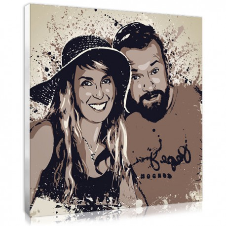 Personalised anniversary gift for a couple made from photo