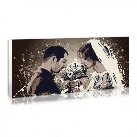 cadeau en tant qu'invité d'un mariage , le tableau splash