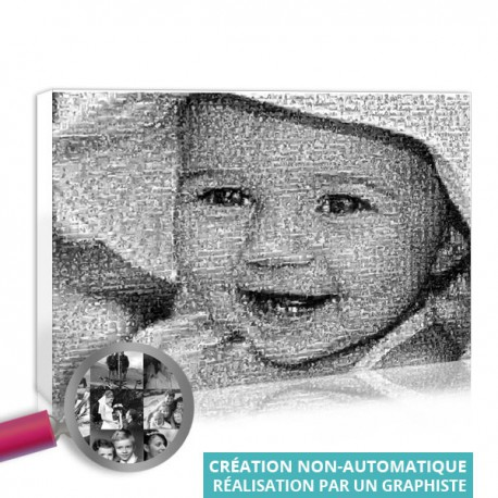 Mosaicphoto printed on poster or canvas
